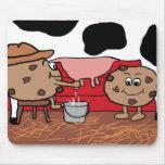 Galletas leche de Milkin y diseño de las galletas Alfombrilla De Ratón