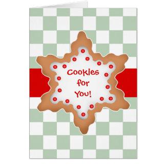 Galletas lindas de la estrella del navidad tarjeta de felicitación