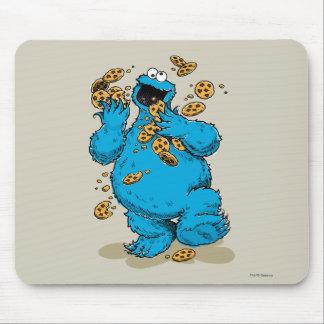 Galletas locas del monstruo de la galleta alfombrilla de ratones