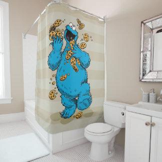 Galletas locas del monstruo de la galleta cortina de baño