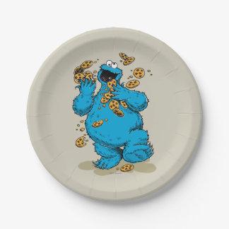 Galletas locas del monstruo de la galleta platos de papel