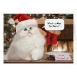 Galletas para la tarjeta de Navidad de Santa