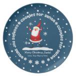 Galletas para las placas del navidad de Santa Plato De Comida