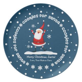 Galletas para las placas del navidad de Santa Platos De Comidas