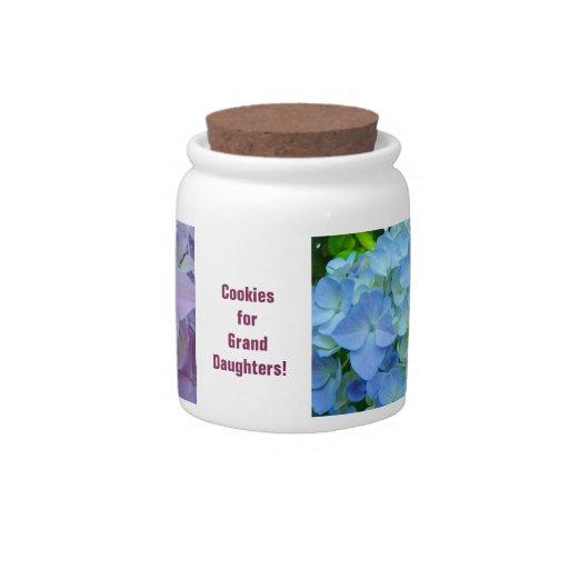 Galletas para los Hydrangeas de los nietos de las  Jarra Para Caramelo
