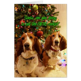 Galletas para los perros tarjeta de felicitación