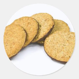galletas etiquetas redondas