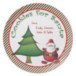 Galletas personalizadas para la placa del navidad  plato