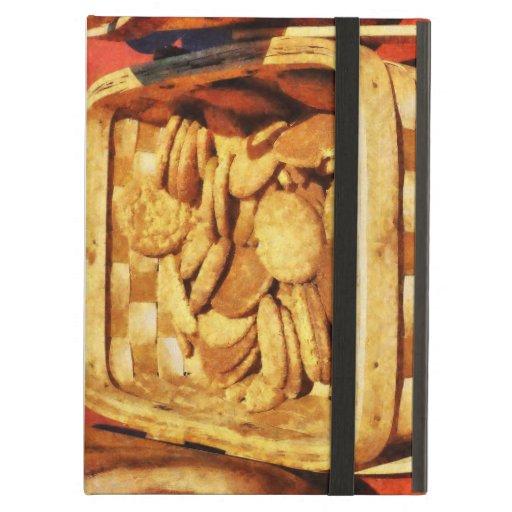 Galletas rápidas del jengibre en cesta