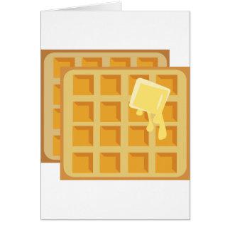 Galletas untadas con mantequilla tarjeta de felicitación