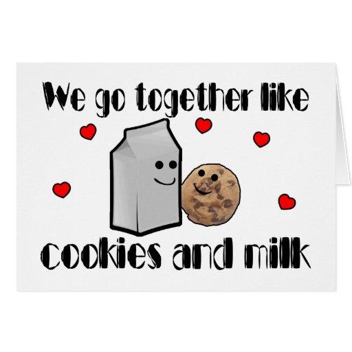 Galletas y amor de la leche felicitación