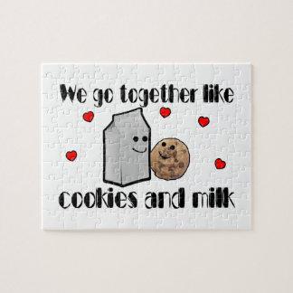 Galletas y amor de la leche puzzle