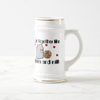 Galletas y amor de la leche tazas de café