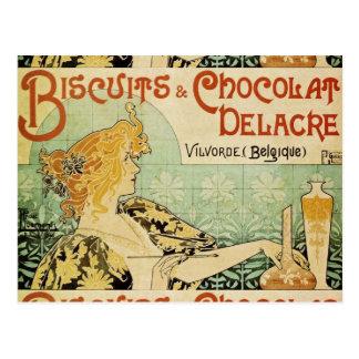 Galletas y Chocolat Delacre Postal