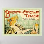 Galletas y Chocolat Delacre (sabio) Póster