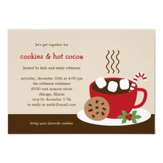 Galletas y día de fiesta del cacao/invitación de