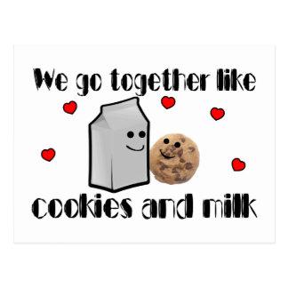 Galletas y leche postal