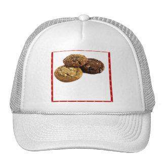 Galletas y otros postres deliciosos en rojo gorra