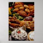 Galletas y panes deliciosos del día de fiesta impresiones