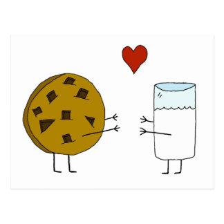 Galletas y postal de la leche
