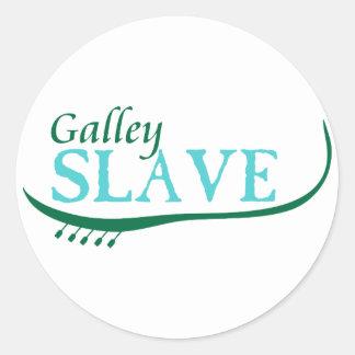 Galley Slave Classic Round Sticker