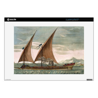 "Galley under sail, flying standard of the Commande 15"" Laptop Skins"
