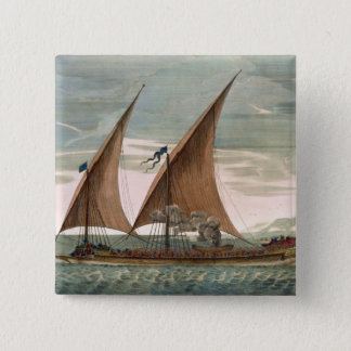Galley under sail, flying standard of the Commande Button