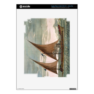 Galley under sail, flying standard of the Commande iPad 3 Decal