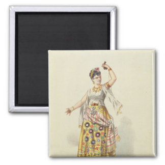Galli Marie in the role of Carmen 2 Inch Square Magnet