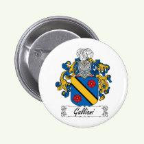 Galliani Family Crest Button