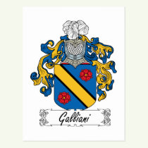 Galliani Family Crest Postcard