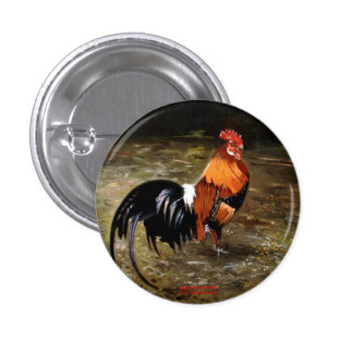 Gallic rooster//Rooster Button