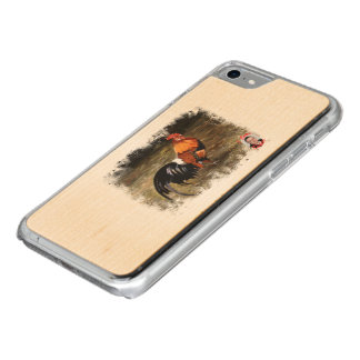 Gallic rooster//Rooster Carved iPhone 7 Case