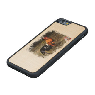 Gallic rooster//Rooster Carved® Maple iPhone 6 Bumper