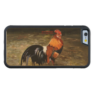Gallic rooster//Rooster Carved® Maple iPhone 6 Bumper Case