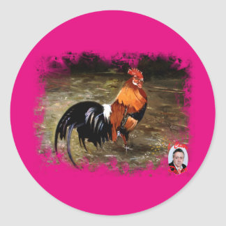 Gallic rooster//Rooster Classic Round Sticker