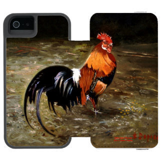 Gallic rooster//Rooster iPhone SE/5/5s Wallet Case
