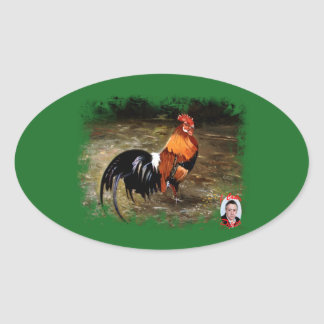 Gallic rooster//Rooster Oval Sticker