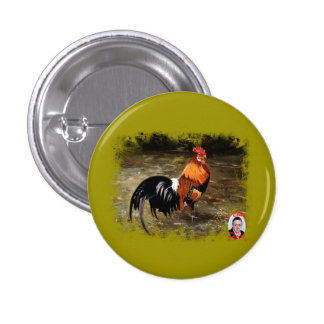 Gallic rooster//Rooster Pinback Button