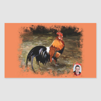 Gallic rooster//Rooster Rectangular Sticker