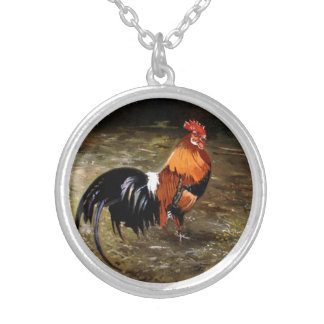Gallic rooster//Rooster Silver Plated Necklace