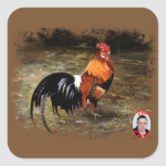 Gallic rooster//Rooster Square Sticker