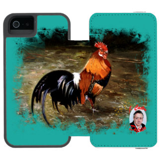 Gallic rooster//Rooster Wallet Case For iPhone SE/5/5s