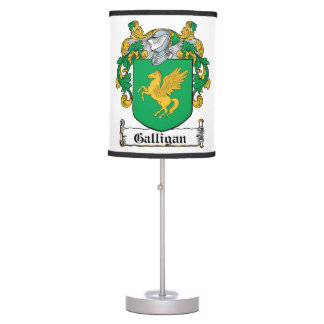 Galligan Family Crest Desk Lamps
