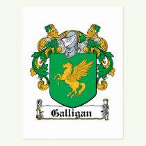 Galligan Family Crest Postcard