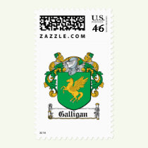 Galligan Family Crest Stamps