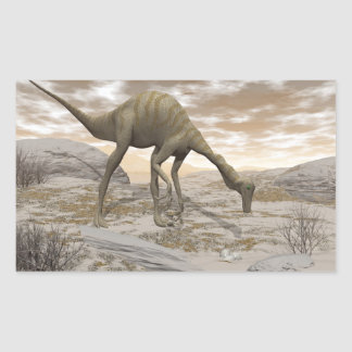 Gallimimus dinosaur - 3D render Rectangular Sticker