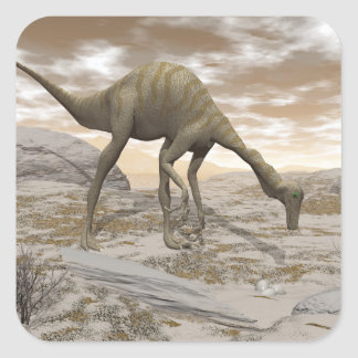 Gallimimus dinosaur - 3D render Square Sticker