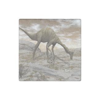 Gallimimus dinosaur - 3D render Stone Magnet