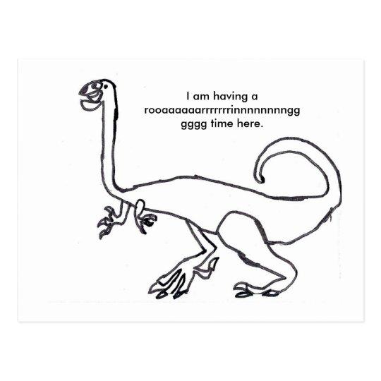 Gallimimus  Dinosaur Postcard